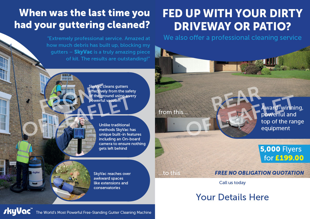 A5 Paving And Gutter Cleaning Flyer Jet Stream External
