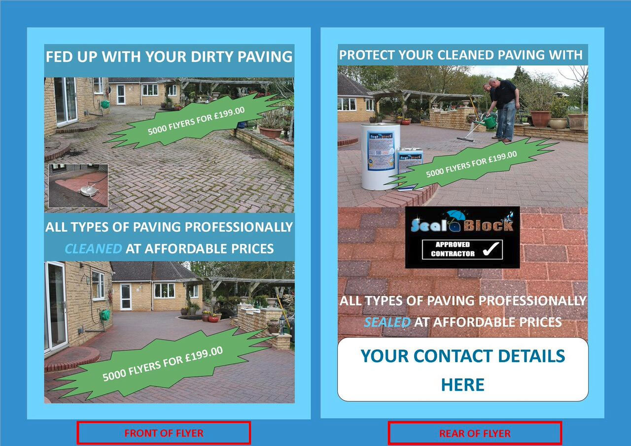 a paving cleaning sealing flyer jet stream external clean mktg clean seal leaflets