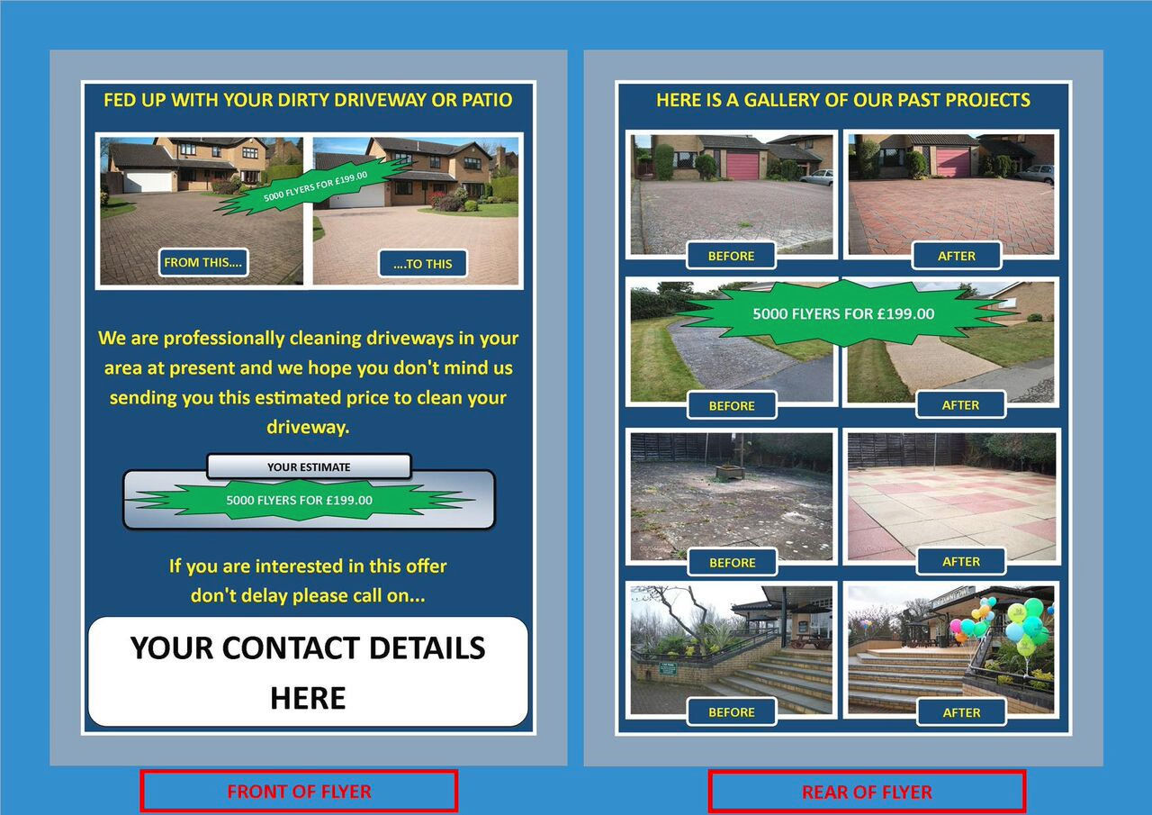 A5 Paving Cleaning Estimate Flyer Jet Stream External Clean