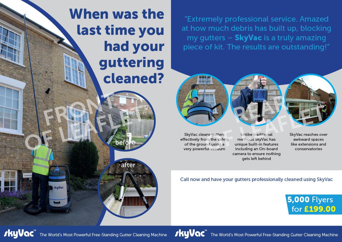 A5 Sky Vac Gutter Cleaning Flyer Jet Stream External Clean